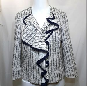 Tory Burch blue and white jacket